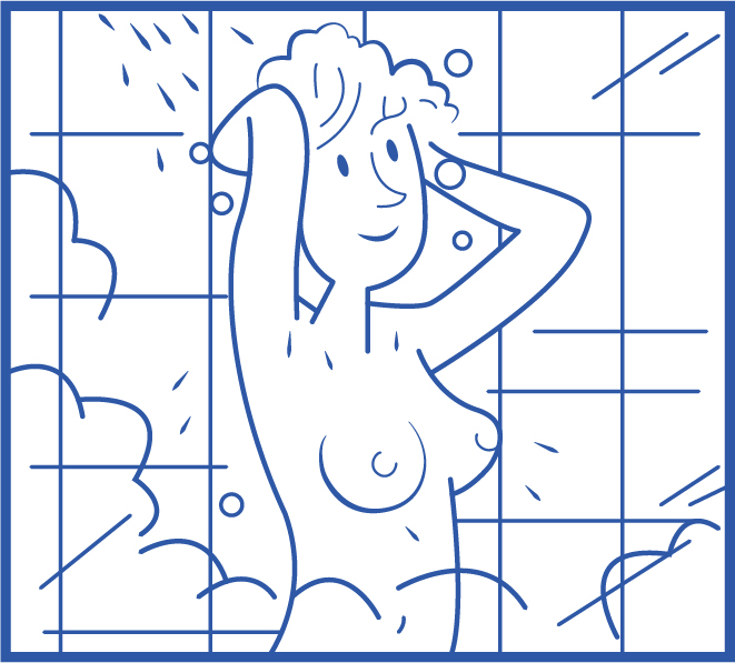 Étape 3 Appliquez le savon de haut en bas en commençant par vos cheveux.